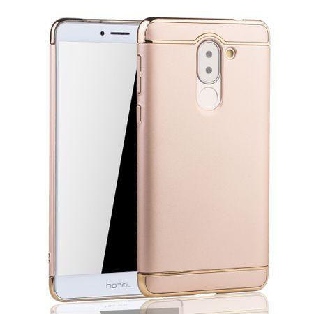 Handy Hülle Schutz Case für Huawei Honor 6X Bumper 3 in 1 Cover Chrom Etui Gold – Bild 2