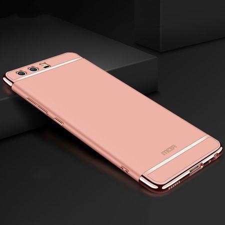 Handy Hülle Schutz Case für Huawei P10 Bumper 3 in 1 Cover Chrom Etui Rose Gold – Bild 2