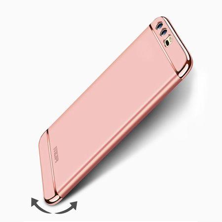 Handy Hülle Schutz Case für Huawei P10 Bumper 3 in 1 Cover Chrom Etui Rose Gold – Bild 5