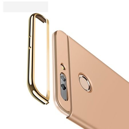 Handy Hülle Schutz Case für Huawei Honor 9 Bumper 3 in 1 Cover Chrom Etui Gold – Bild 4