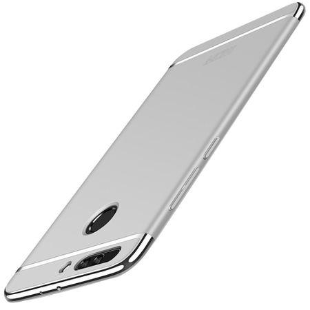 Handy Hülle Schutz Case für Huawei Honor 9 Bumper 3 in 1 Cover Chrom Etui Silber