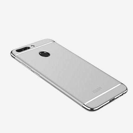 Handy Hülle Schutz Case für Huawei Honor 9 Bumper 3 in 1 Cover Chrom Etui Silber – Bild 2