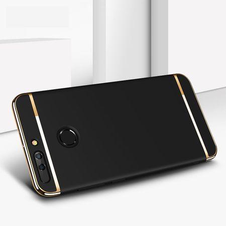 Handy Hülle Schutz Case für Huawei Honor 9 Bumper 3 in 1 Cover Chrom Etui Silber – Bild 4