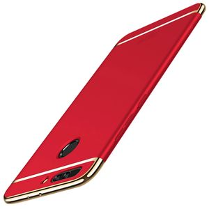 Handy Hülle Schutz Case für Huawei Honor 9 Bumper 3 in 1 Cover Chrom Etui Rot