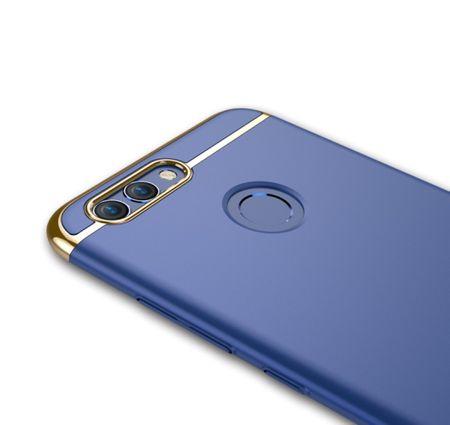 Handy Hülle Schutz Case für Huawei Nova 2 Bumper 3 in 1 Cover Chrom Etui Silber – Bild 4