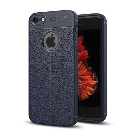 Handy Hülle Schutz Case für Apple iPhone 6s Plus Cover Rahmen Etui Blau