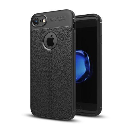 Handy Hülle Schutz Case für Apple iPhone 7 Cover Rahmen Etui Schwarz