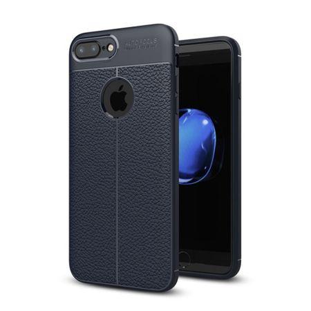 Handy Hülle Schutz Case für Apple iPhone 7 Plus Cover Rahmen Etui Blau