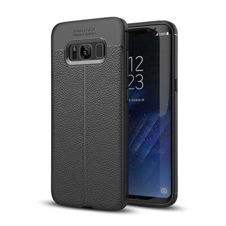 Handy Hülle Schutz Case für Samsung Galaxy S8+ Cover Rahmen Etui Schwarz