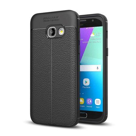 Handy Hülle Schutz Case für Samsung Galaxy A3 2017 Cover Rahmen Etui Schwarz
