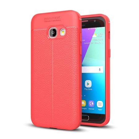 Handy Hülle Schutz Case für Samsung Galaxy A7 2017 Cover Rahmen Etui Rot