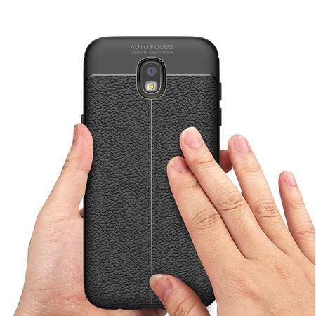 Handy Hülle Schutz Case für Samsung Galaxy J3 2017 Cover Rahmen Etui Grau – Bild 4