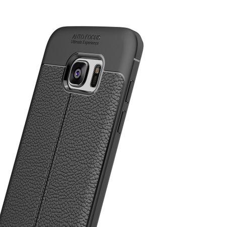 Handy Hülle Schutz Case für Samsung Galaxy S6 Edge Cover Rahmen Etui Schwarz – Bild 2