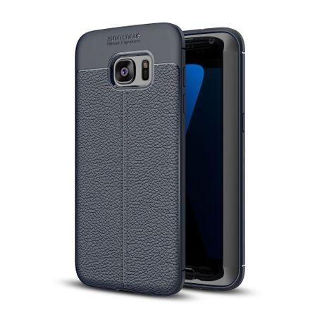 Handy Hülle Schutz Case für Samsung Galaxy S6 Edge Cover Rahmen Etui Blau