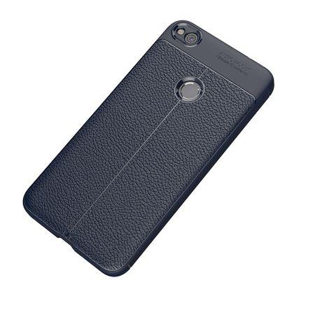 Handy Hülle Schutz Case für Huawei P8 Lite 2017 Cover Rahmen Etui Blau – Bild 3