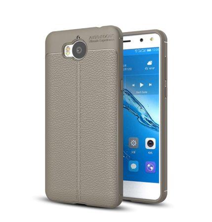 Handy Hülle Schutz Case für Huawei Y5 2017 Cover Rahmen Etui Grau