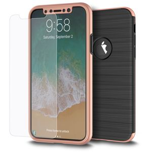 Samsung Galaxy J5 2017 2 in 1 Handyhülle 360 Grad Full Cover Case Pink