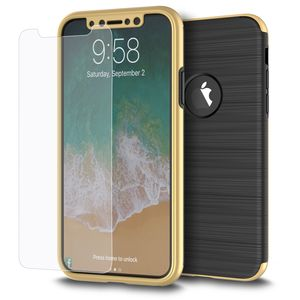 Samsung Galaxy S8 2 in 1 Handyhülle 360 Grad Full Cover Case Gold