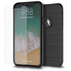 Samsung Galaxy S8+ Plus 2 in 1 Handyhülle 360 Grad Full Cover Case Schwarz