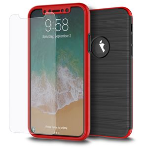 Samsung Galaxy S8+ Plus 2 in 1 Handyhülle 360 Grad Full Cover Case Rot