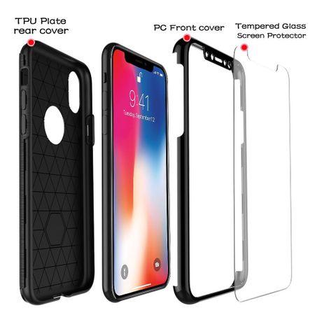 Apple iPhone 7 2 in 1 Handyhülle 360 Grad Full Cover Case Silber – Bild 5