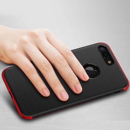 Apple iPhone 8 Plus 2 in 1 Handyhülle 360 Grad Full Cover Case Pink – Bild 3