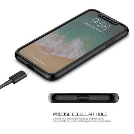 Apple iPhone X 2 in 1 Handyhülle 360 Grad Full Cover Case Schwarz – Bild 4