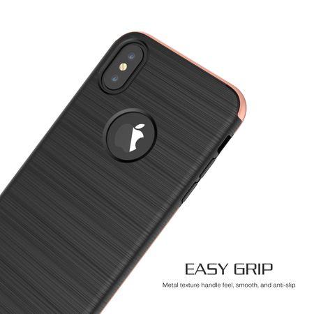 Apple iPhone X 2 in 1 Handyhülle 360 Grad Full Cover Case Pink – Bild 3