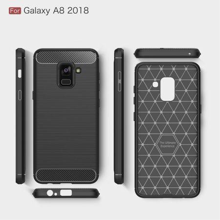 Samsung Galaxy A8 2018 TPU Case Carbon Fiber Optik Brushed Schutz Hülle Schwarz – Bild 8