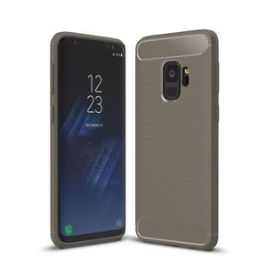 Samsung Galaxy S9 TPU Case Carbon Fiber Optik Brushed Schutz Hülle Grau