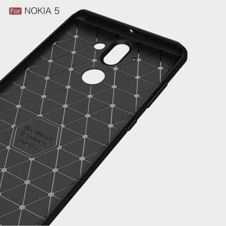 Nokia 9 TPU Case Carbon Fiber Optik Brushed Schutz Hülle Grau – Bild 4