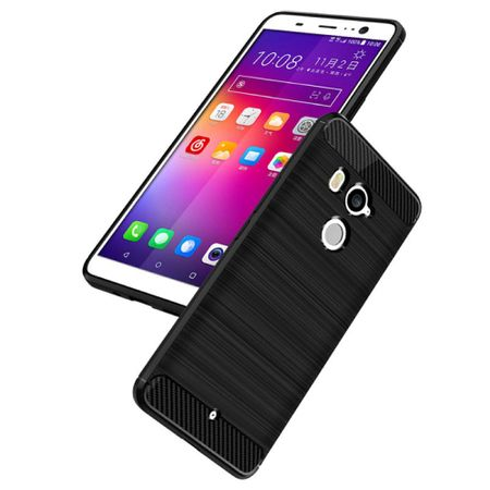 HTC U11+ TPU Case Carbon Fiber Optik Brushed Schutz Hülle Grau – Bild 3
