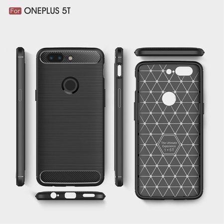 OnePlus 5T TPU Case Carbon Fiber Optik Brushed Schutz Hülle Schwarz – Bild 9