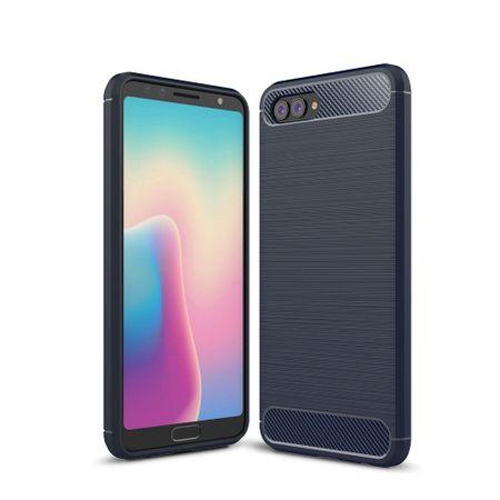 Huawei Nova 2s TPU Case Carbon Fiber Optik Brushed Schutz Hülle Blau