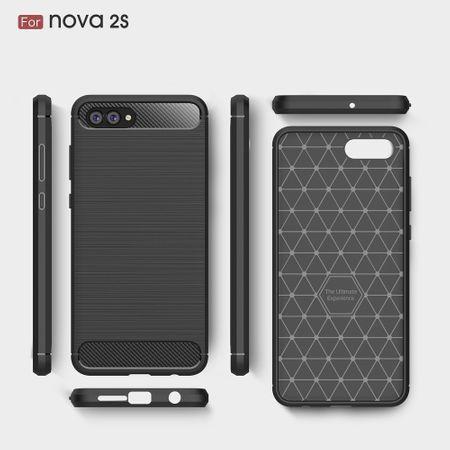 Huawei Nova 2s TPU Case Carbon Fiber Optik Brushed Schutz Hülle Grau – Bild 6