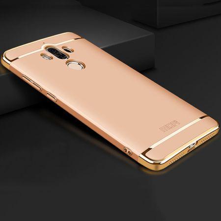 Handy Hülle Schutz Case für Huawei Mate 10 Bumper 3 in 1 Cover Chrom Gold – Bild 2