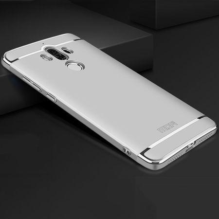 Handy Hülle Schutz Case für Huawei Mate 10 Bumper 3 in 1 Cover Chrom Silber – Bild 3