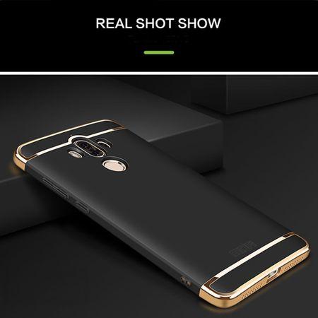 Handy Hülle Schutz Case für Huawei Mate 10 Bumper 3 in 1 Cover Chrom Schwarz – Bild 2