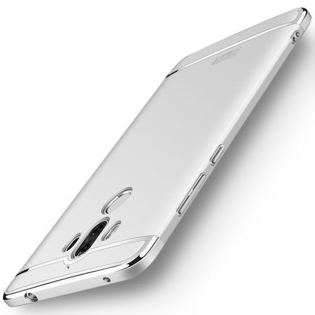 Handy Hülle Schutz Case für Huawei Mate 10 Pro Bumper 3 in 1 Cover Chrom Silber – Bild 2