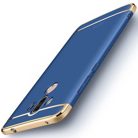 Handy Hülle Schutz Case für Huawei Mate 10 Pro Bumper 3 in 1 Cover Chrom Blau – Bild 3