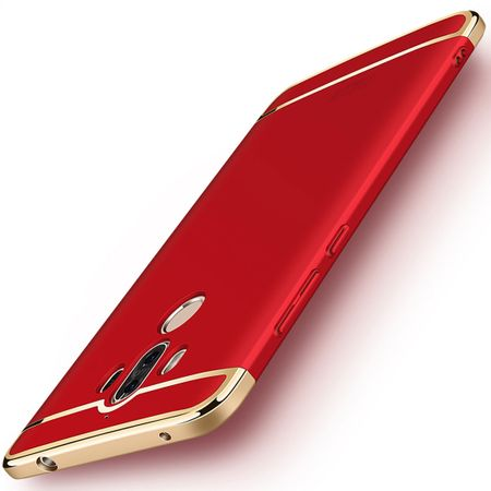 Handy Hülle Schutz Case für Huawei Mate 10 Pro Bumper 3 in 1 Cover Chrom Rot