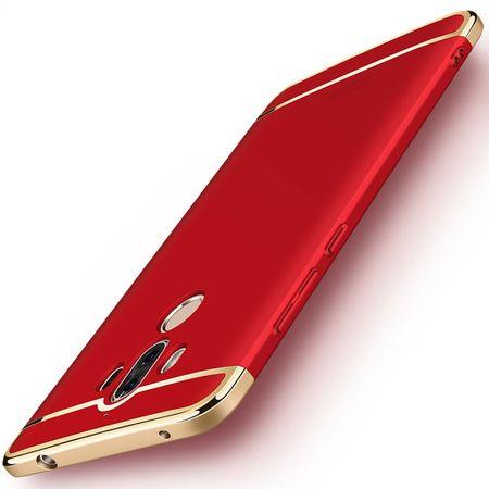 Handy Hülle Schutz Case für Huawei Mate 10 Pro Bumper 3 in 1 Cover Chrom Rot – Bild 4