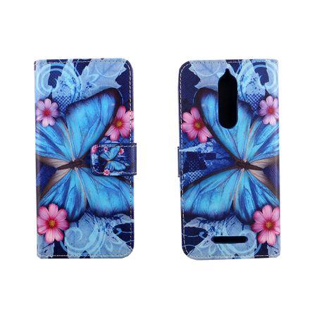 Handyhülle Tasche für Handy Wiko View Blauer Schmetterling – Bild 6