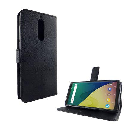 Handyhülle Tasche für Handy Wiko View XL Schwarz – Bild 5