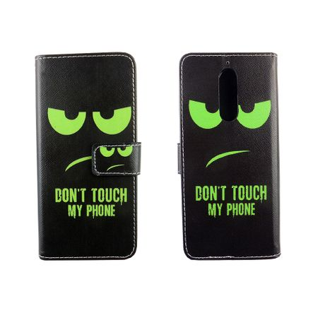 Handyhülle Tasche für Handy Wiko View XL Dont Touch My Phone Grün – Bild 3