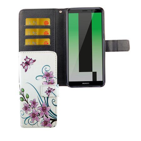 Handyhülle Tasche für Handy Huawei Mate 10 Lite Lotusblume