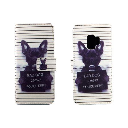 Handyhülle Tasche für Handy Samsung Galaxy S9 Böser Hund Weiß – Bild 3