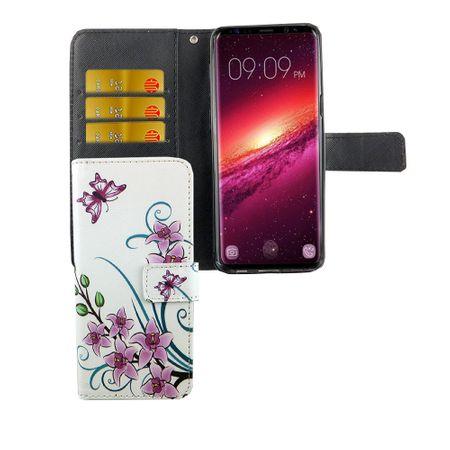 Handyhülle Tasche für Handy Samsung Galaxy S9 Lotusblume