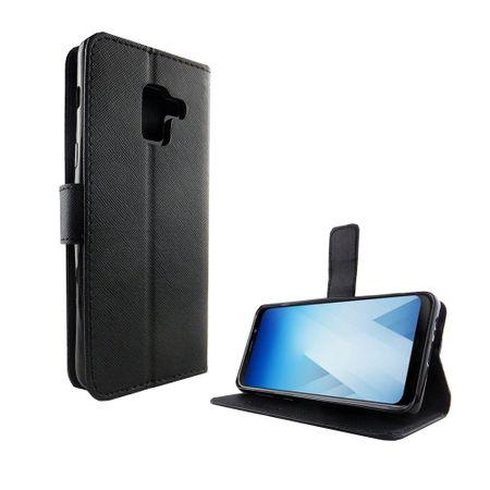 Handyhülle Tasche für Handy Samsung Galaxy A8 2018 Schwarz – Bild 2