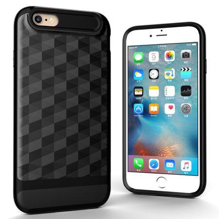 Hülle für Apple iPhone 6 / 6s Backcover Case Handy Schutzhülle - Cover 3D Prisma Design Schwarz